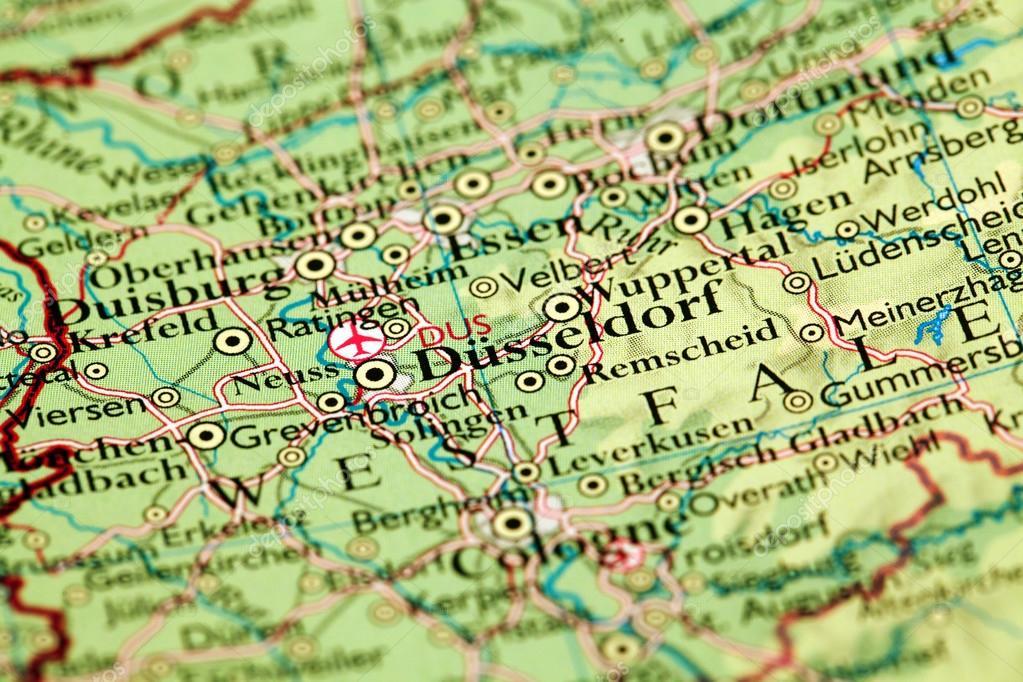 Düsseldorf Karte.Düsseldorf Auf Karte Stockfoto Janaka 56242891