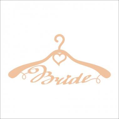 Beige wedding hangers for bride