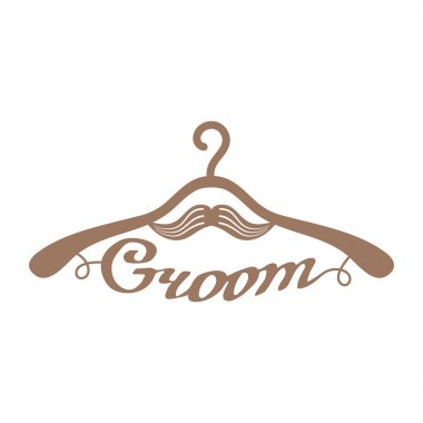 Brown wedding hangers for groom