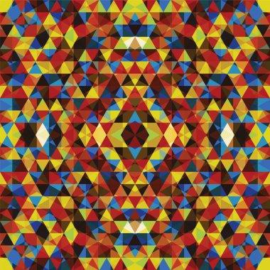 Triangular colorful mosaic background