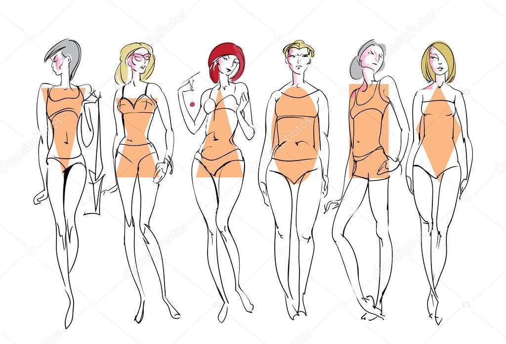 Female body types. — Stock Vector © bonairina #98229250