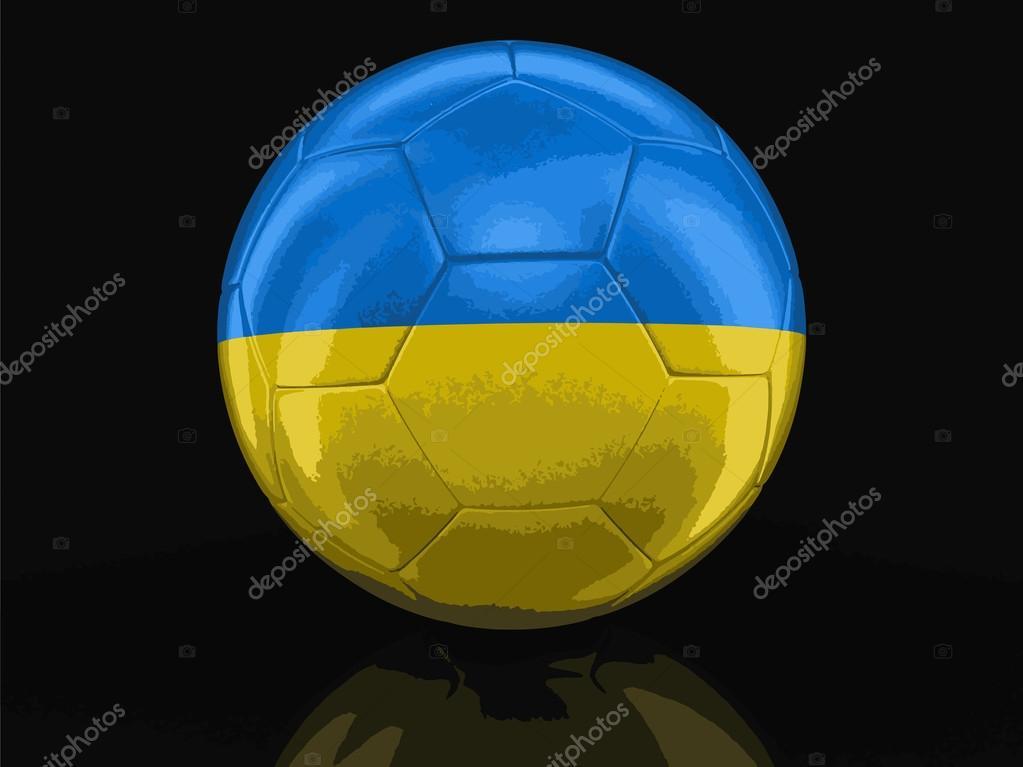 Векторні зображення. Футбол-футбол з українським прапором. Зображення із  відсічним контуром– стокова ілюстрація 1b37f5866c6c3