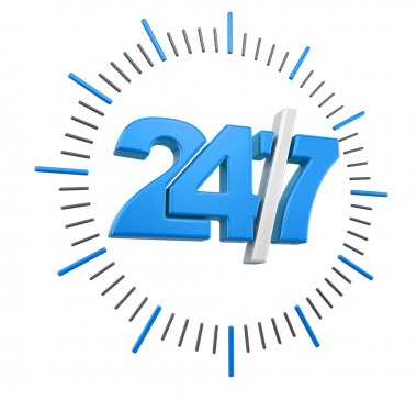 24-7 Sign (clipping path included)