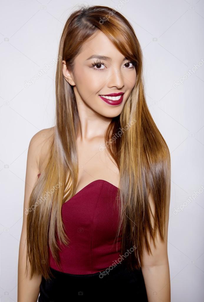 Beautiful Asian Woman With Long Hair Stock Photo C Anetta 81687832