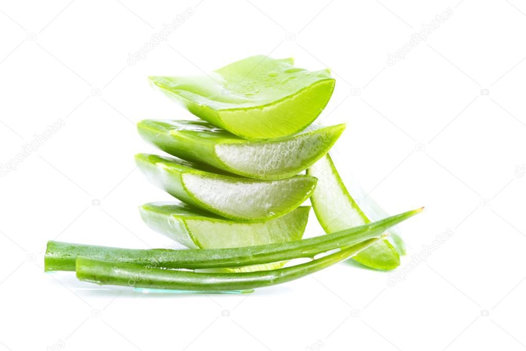 organic aloe vera slices