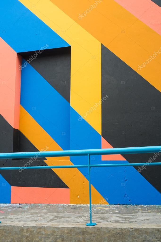 Facciata Con Pittura Geometrica U2014 Foto Stock