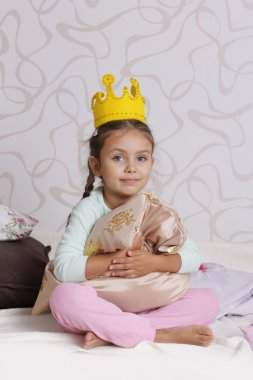 Girl in princess crown