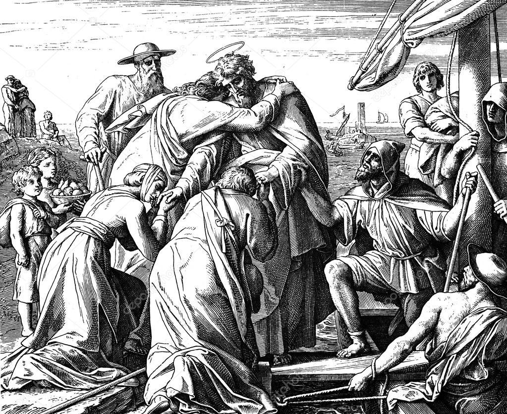Paul's Farewell to Ephesian Elders — Stock Photo © ruskpp #105718274
