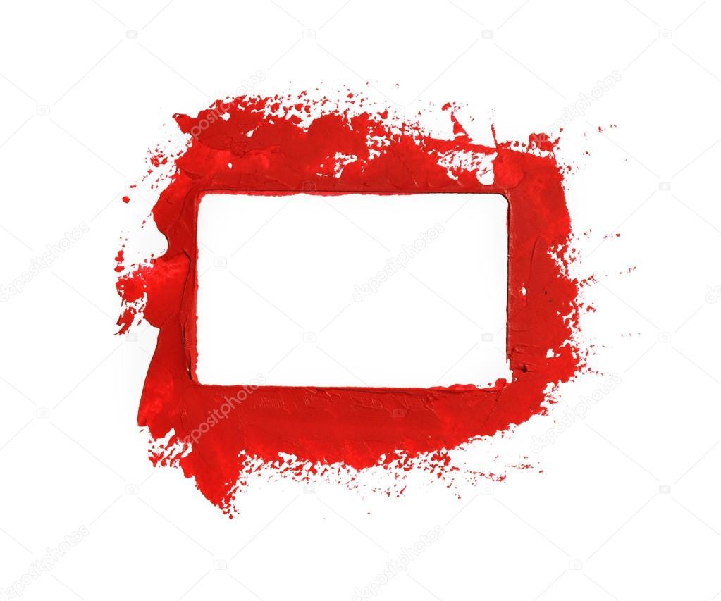 Marco de pintura roja — Foto de stock © ruskpp #79619432