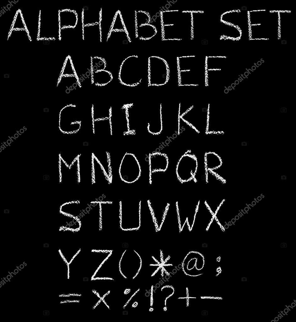 English font freehand alphabet pencil sketch stock photo