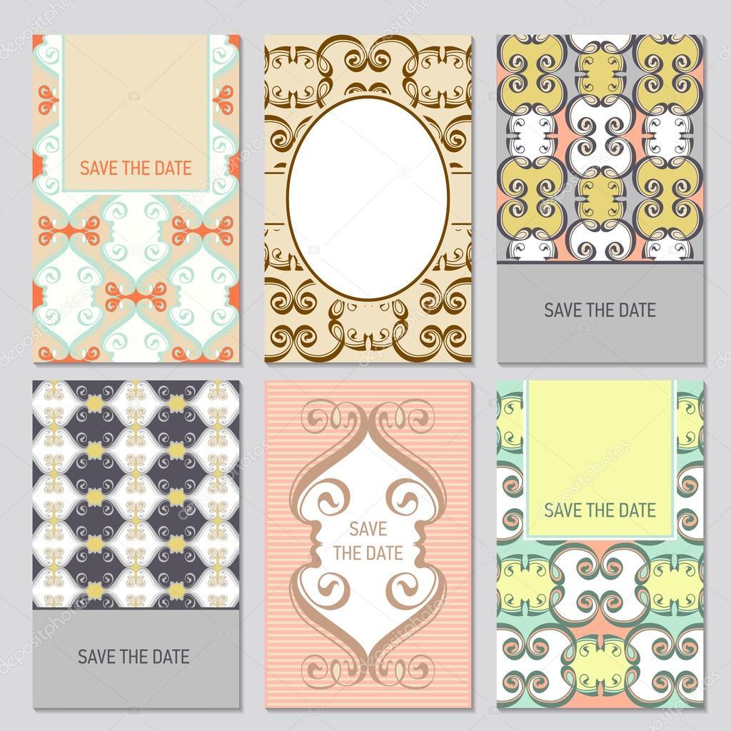 Set of vector card templates