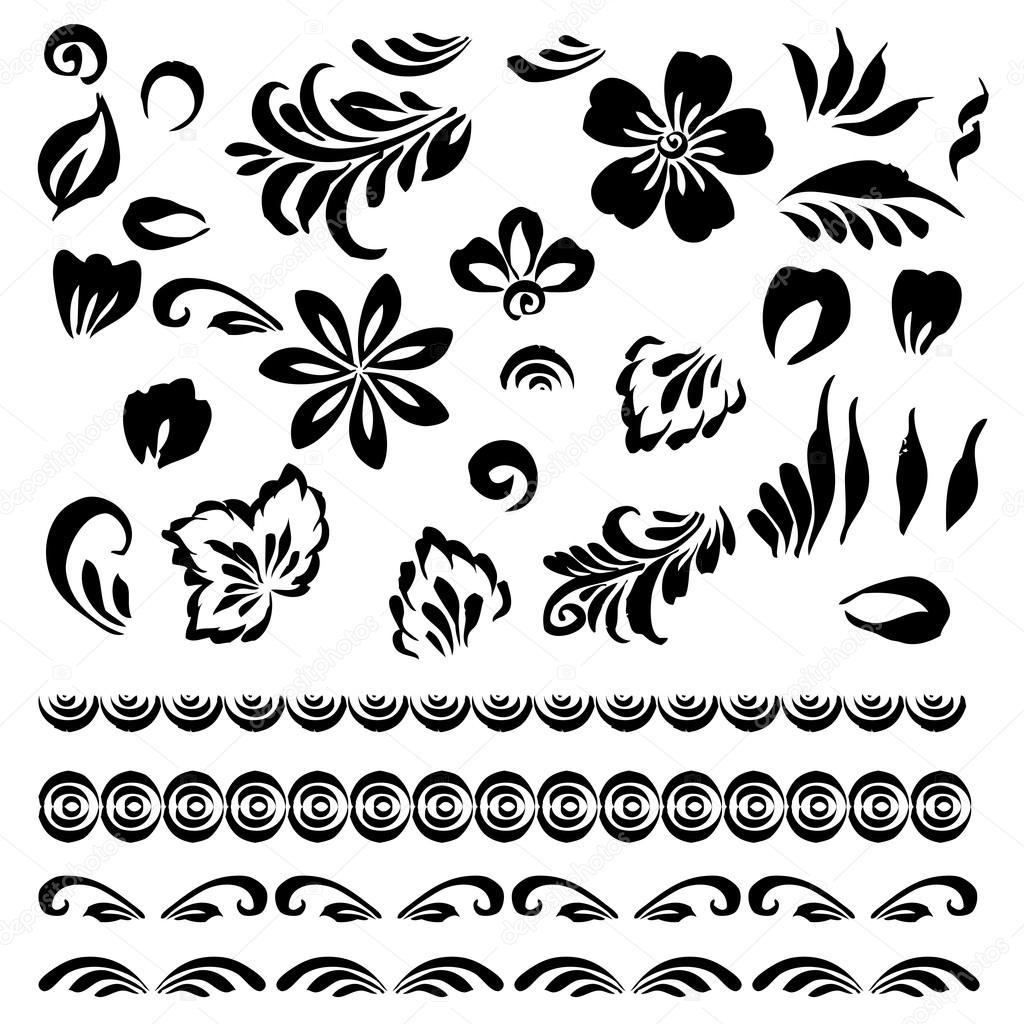 Ornamento Floreale Stilizzato Vettoriali Stock Tashh1601 97819356