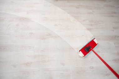Wiping floor and cleaning