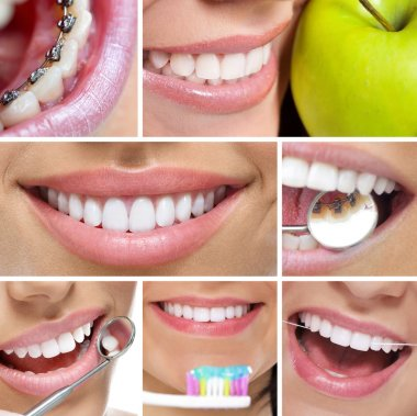 Teeth and smile collage
