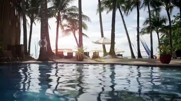 Pool in Tropical Beach Resort Paradise  - still video