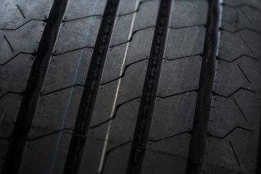 black  tires close up