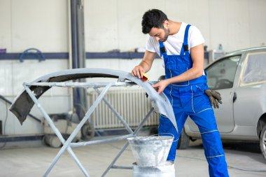 polishing bumper for paint job