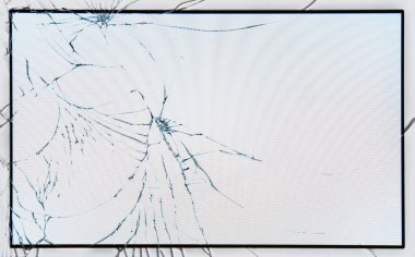 Broken glass on LCD screen