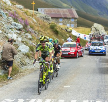 Group of Cyclists on the Mountains Roads - Tour de France 2015