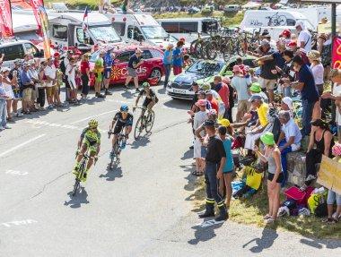 Three Cyclists on Col du Glandon - Tour de France 2015