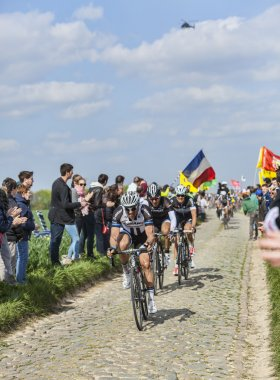 Three Cyclists on Paris-Roubaix 2014