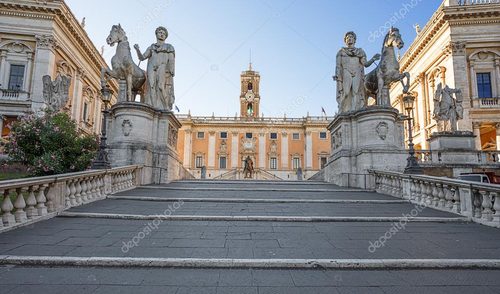 The Capitoline Hill. Rome. Italy. — Stock Photo © bollwerk #77528000