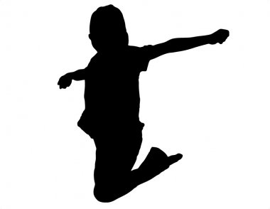 Jumping Child Silhouette