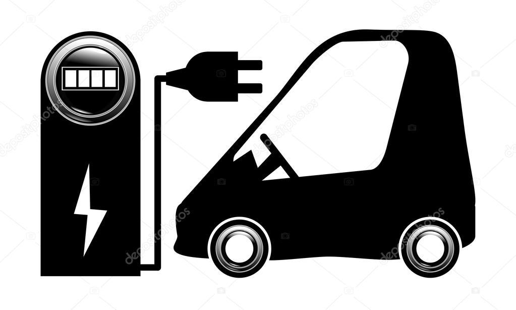 Elektrische Auto Electrocar Opladen Station Vector Eps 10 Electrica