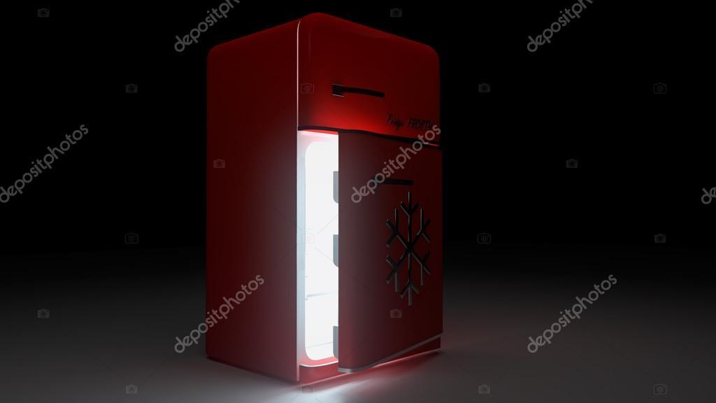 Kühlschrank In Rot : Retro kühlschrank kühlschrank retro rot eröffnet u stockfoto