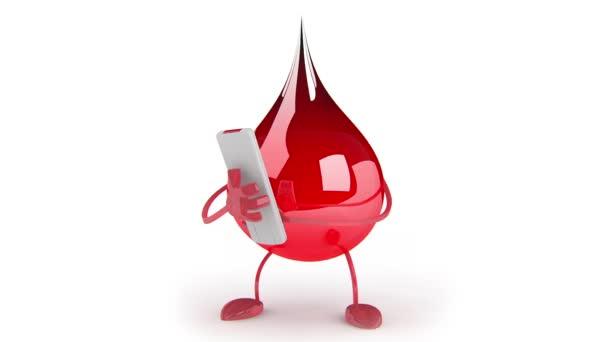 Piros vér csepp rajzfilmfigura