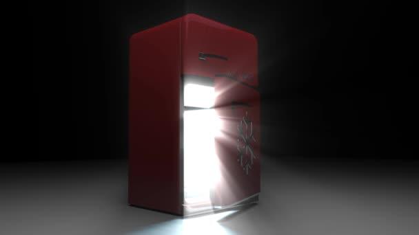 Retro Kühlschrank Rot : Retro kühlschrank kühlschrank retro rot eröffnet u2014 stockvideo