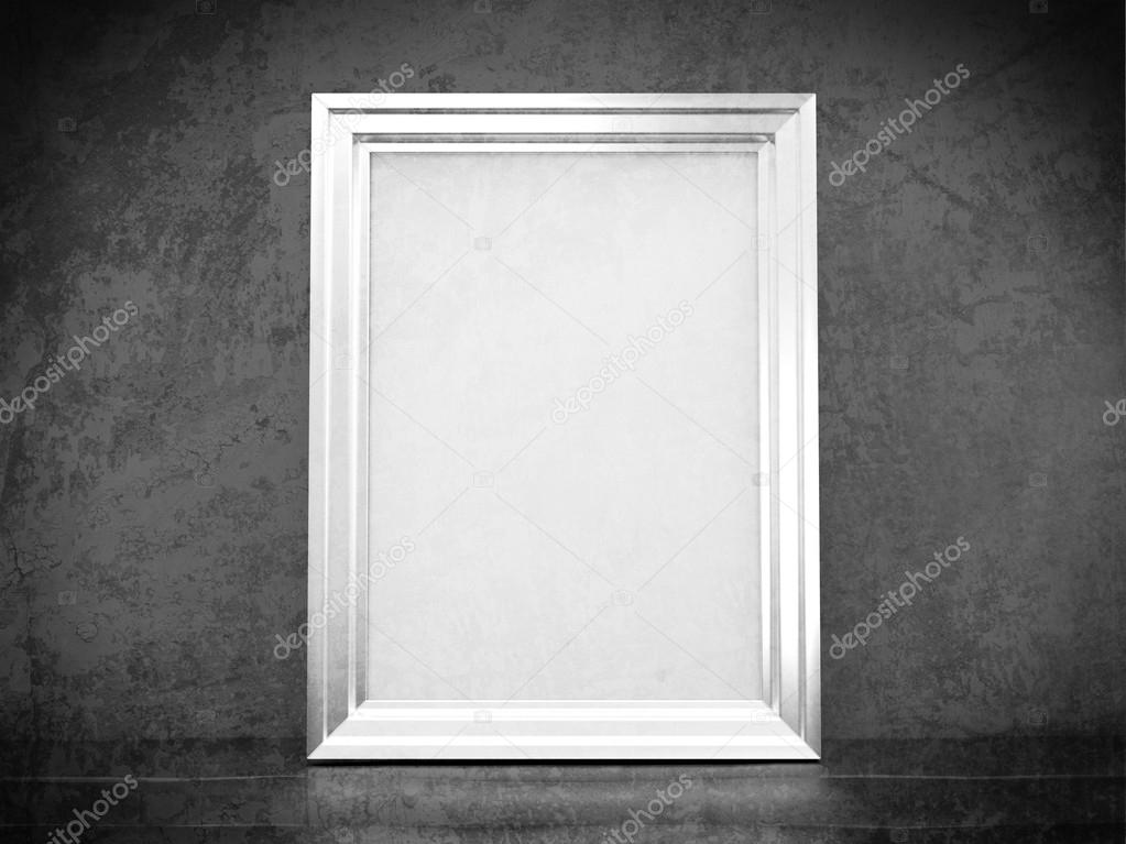 White silver frame in abandoned interior — Stock Photo © caesart ...