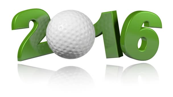 Golf 2016 with a white background
