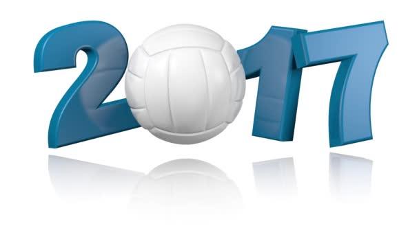 Volejbal 2017 s bílým pozadím