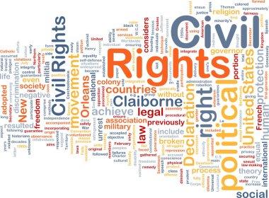 Civil rights wordcloud concept illustration