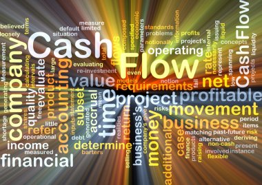 Cash flow background concept glowing