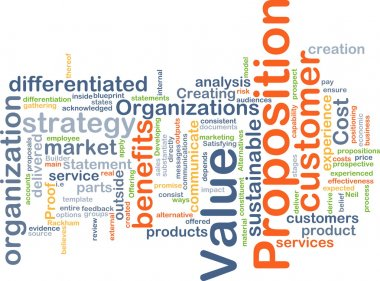 Value proposition background concept