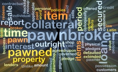 Pawnbroker background concept glowing