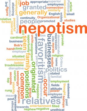 Nepotism background concept