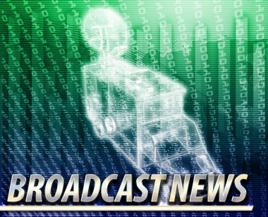 Broadcast news Abstract concept digital illustration