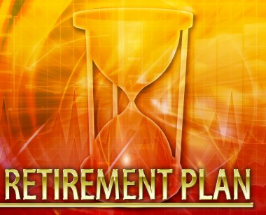 Retirement plan Abstract concept digital illustration