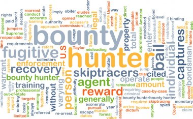 Bounty hunter background concept
