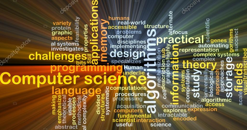 Background Concept Wordcloud Illustration Of Computer Science Glowing Light Photo By Kgtohbu