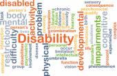 fogyatékosság háttér koncepció