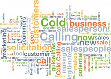 Cold calling background concept