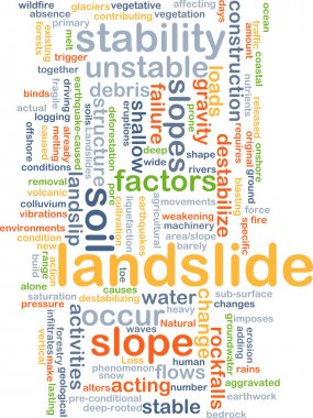 Landslide background concept