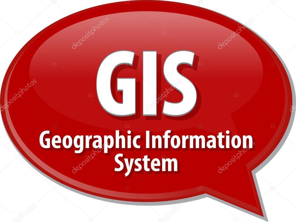 GIS acronym definition speech bubble illustration