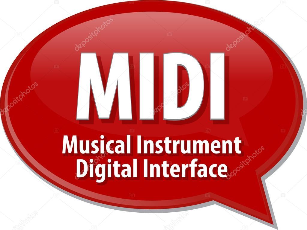 MIDI acronym definition speech bubble illustration — Stock