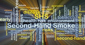 Használt füst Shs háttér koncepció izzó