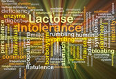 Lactose intolerance background concept glowing